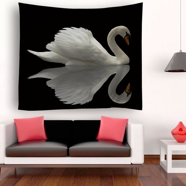 Retro Swan Tapestry