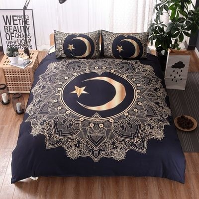 Great Star And Moon Duvet Cover Set