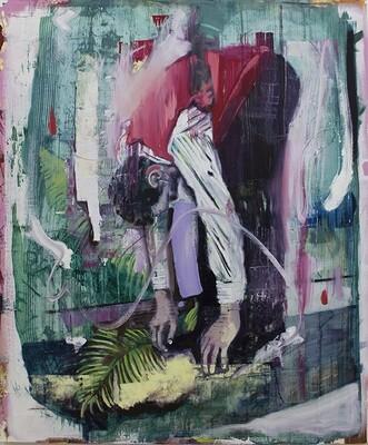 Fitness, oil on canvas | Original Artwork | Painting | Bartosz Beda