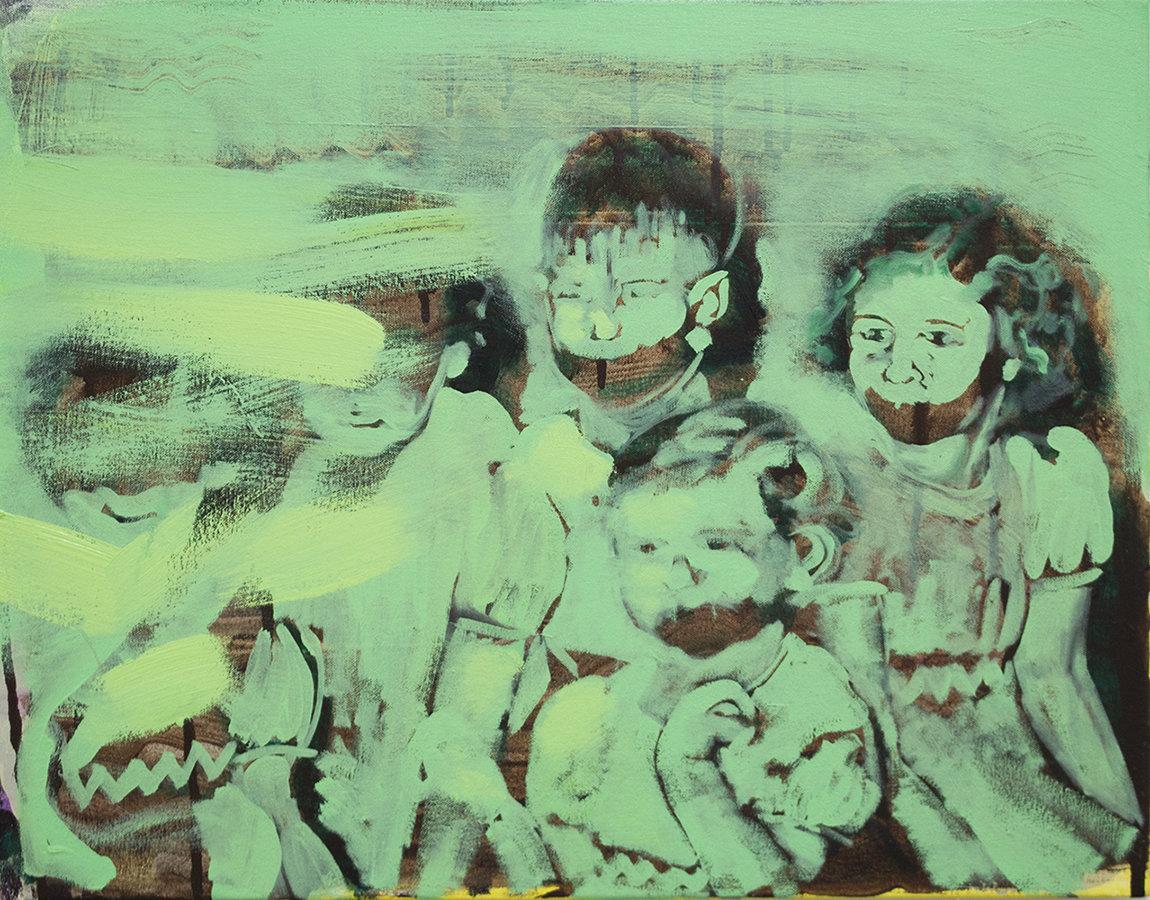 Original Oil on Canvas: Children of The Megaphone