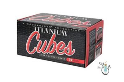 Hookah John Titanium Coconut Coals - Cubes