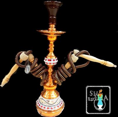 Khalil Maamoon (2 Hose) Bronze - Mini Sadaf Hookah #4