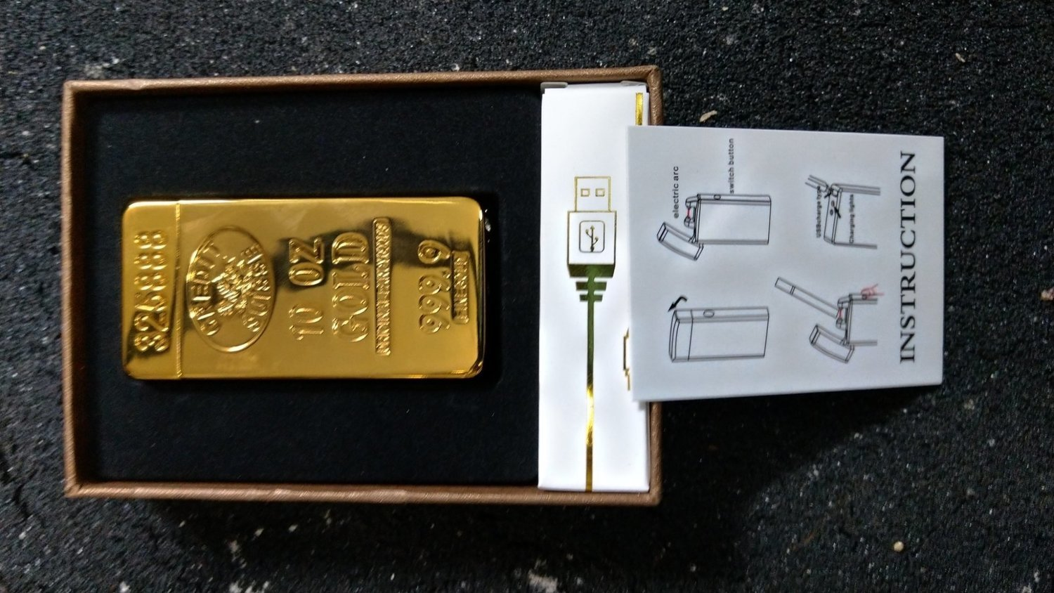 Gold Bullion Electric Lighter