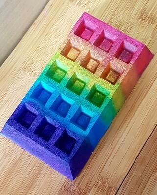 Rainbow Waffle Bomb