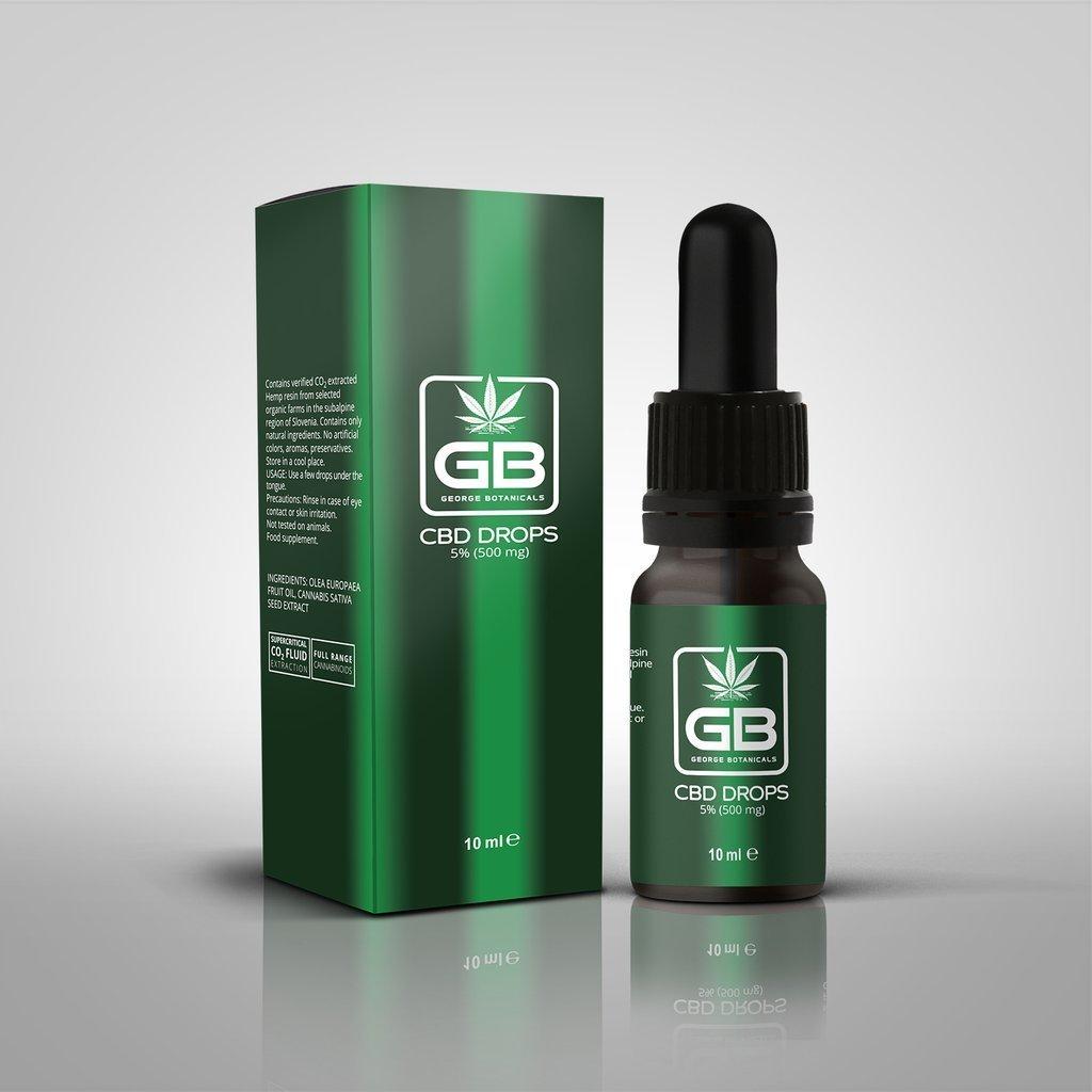George Botanicals CBD Drops 5% 10ml Bottle
