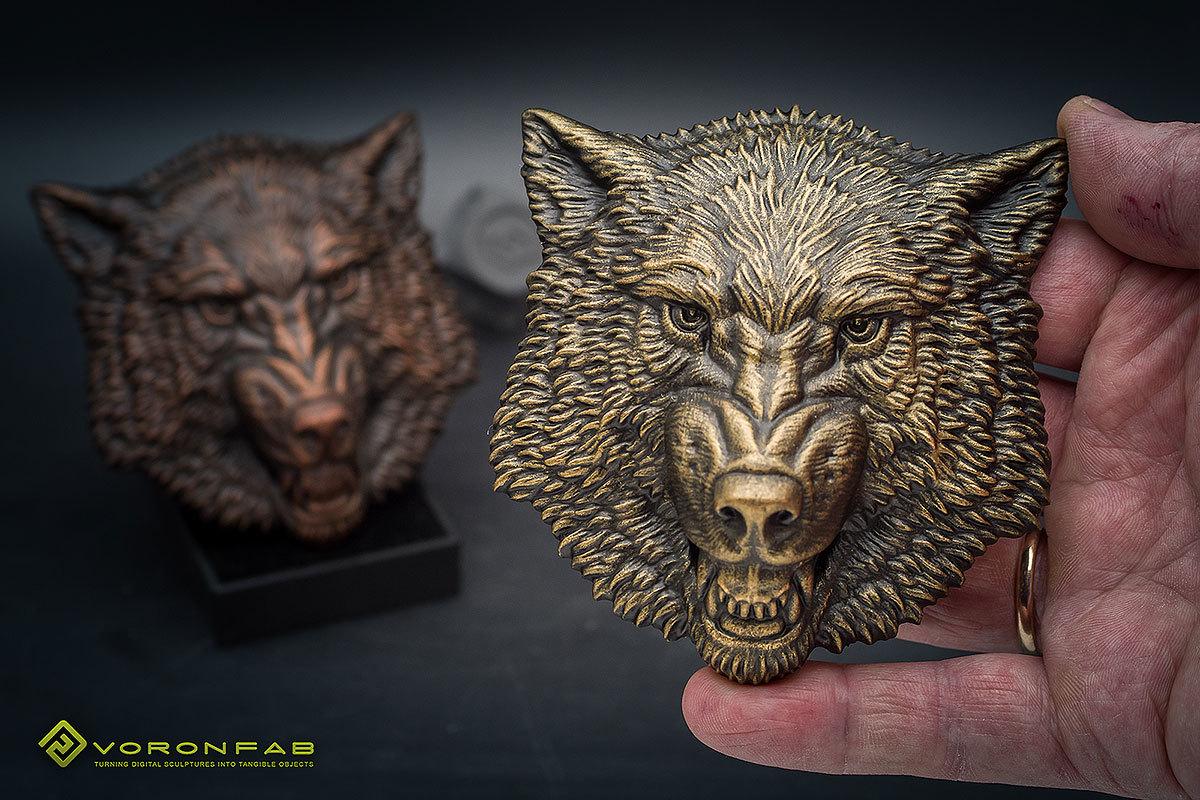 Growling wolf animal head megnet souvenir 00008