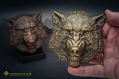 Growling wolf animal head megnet souvenir