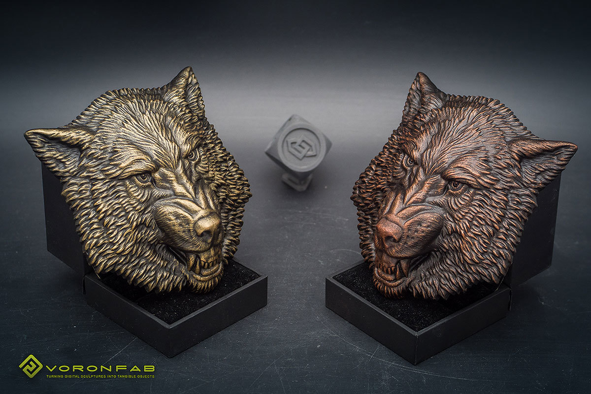 Growling wolf animal head megnet souvenir