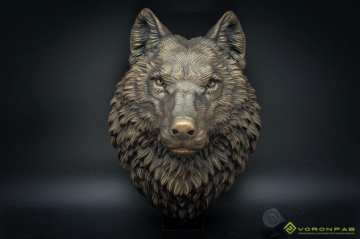 Wolf head wall mount, faux taxidermy, home decor. 00000
