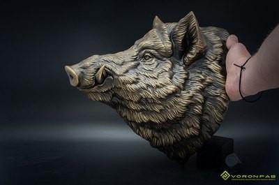 Large Wild Boar Head wall mounted Sculpture Faux Taxidermy