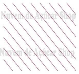 Riscas finíssimas diagonal
