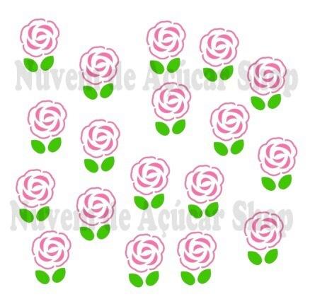 Rosas e folhas (2 stencils)