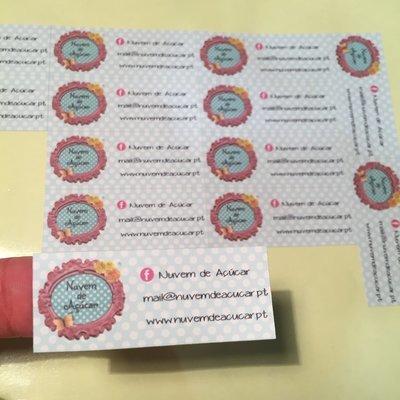 Etiquetas autocolantes personalizadas
