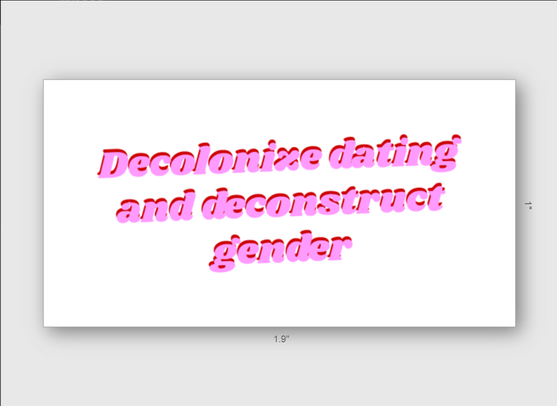 Decolonize Dating and Black Liberation 6 Sticker Pack