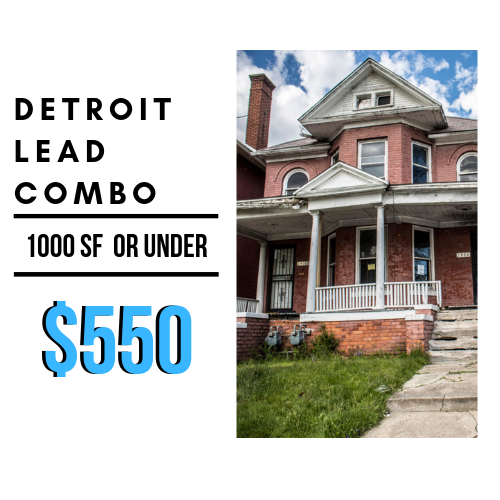 Lead Combo- (Single Family home, under 1000 SF.)