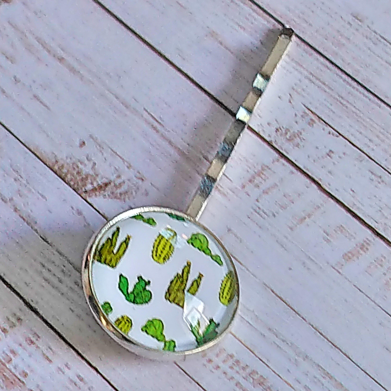 Desert Cactus Hair Grip or Slide.  Fabulous Hair Accessory Gift Idea.   Stocking Filler for Her.  Boho Gift 00170