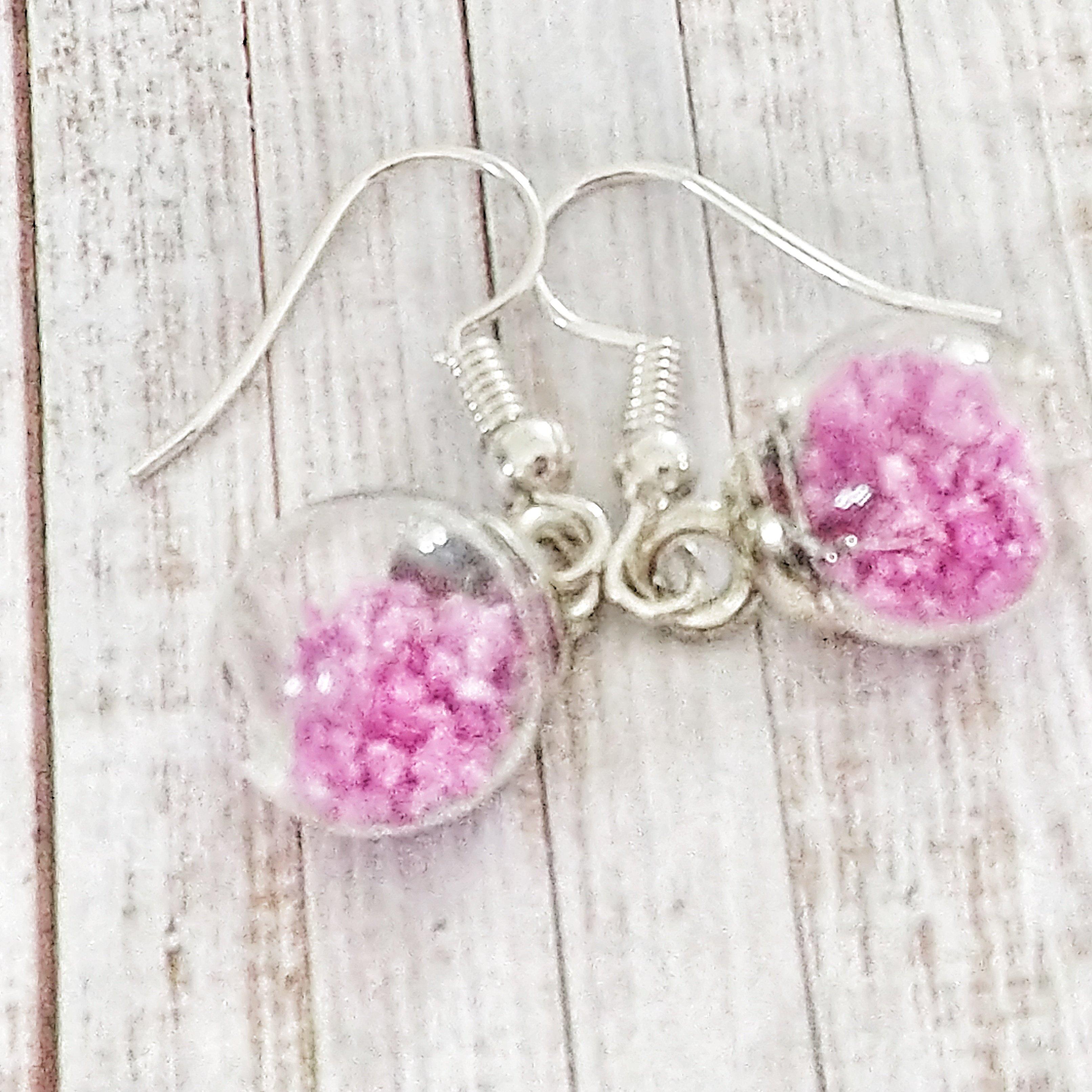 Glow in the Dark Pink Bottle Earrings 2