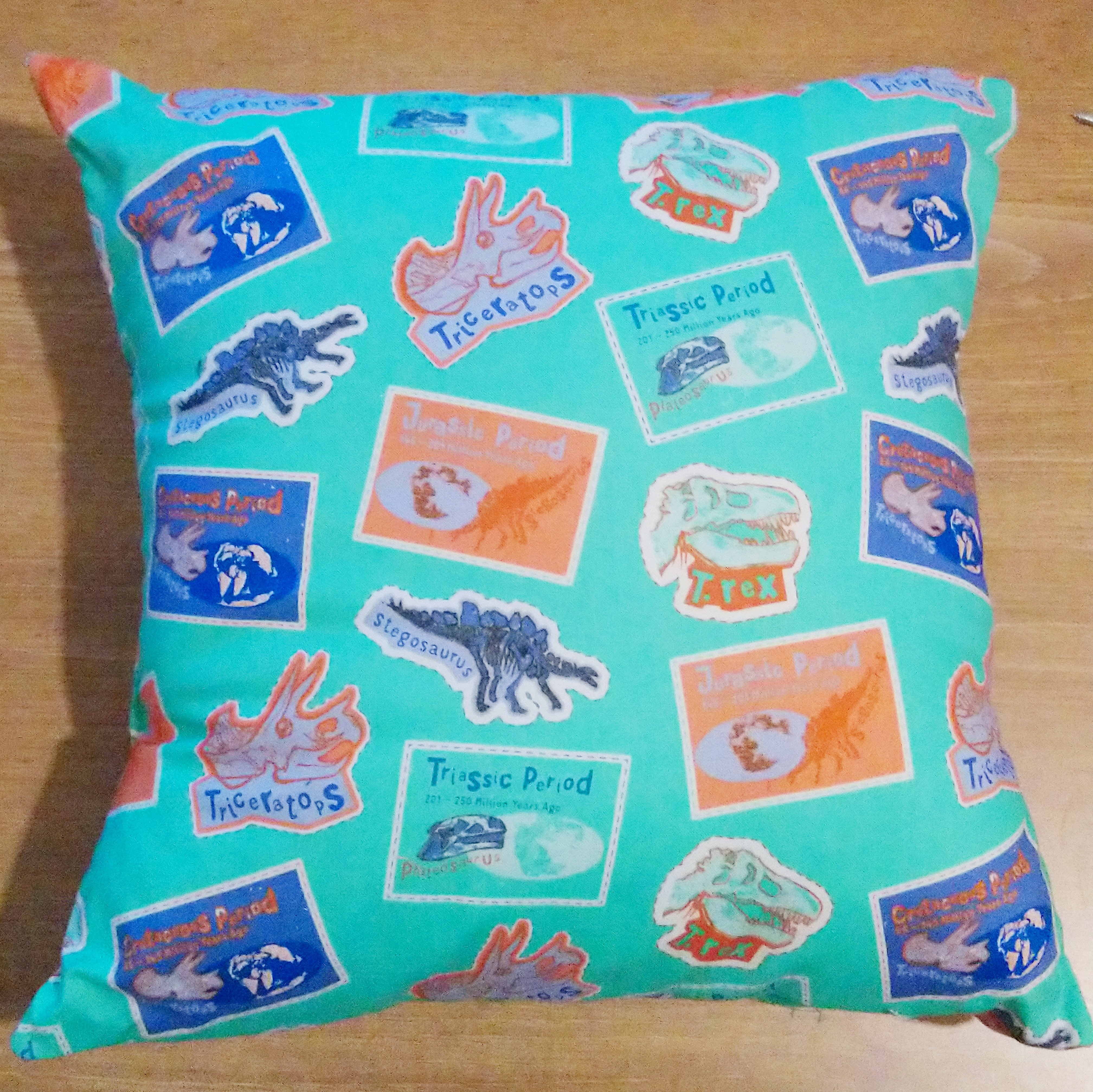 Prehistoric Dinosaur Cushion Including 14 inch Inner 00525