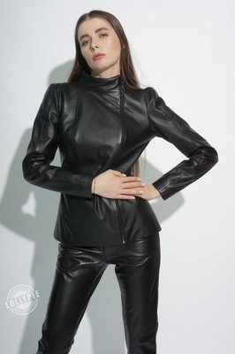Leather Jacket High Shoulders to order