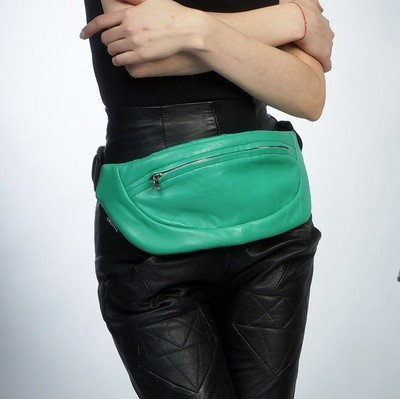 Кожаная сумка на пояс Leather Belt Bum Bag