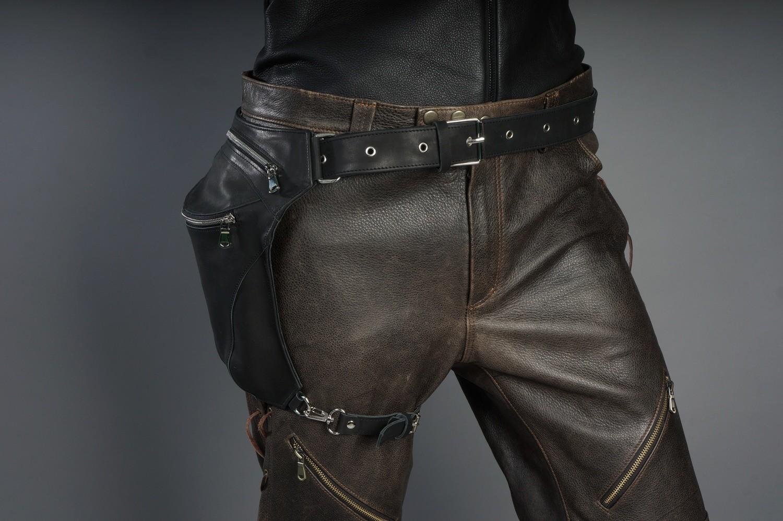 Сумка на бедро кожаная/ Leather Legbag