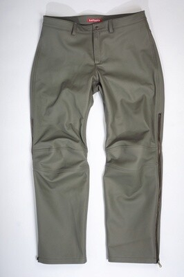 Leather Perforated Motorcycle Pants