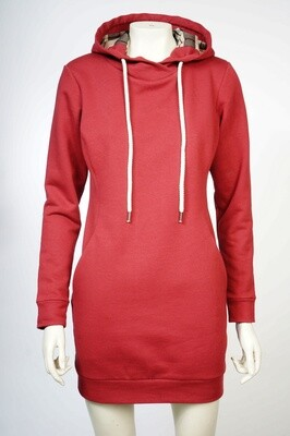 Sweatshirt Dress with a Hood Made of Natural Cotton