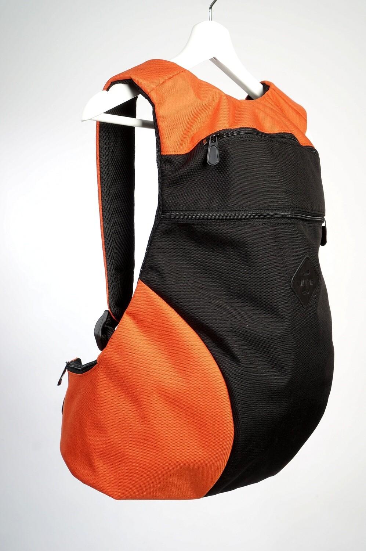 Анатомический рюкзак черно оранжевый