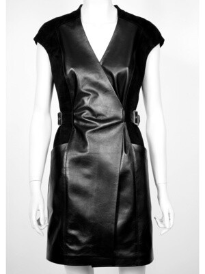 Leather Dress Coat
