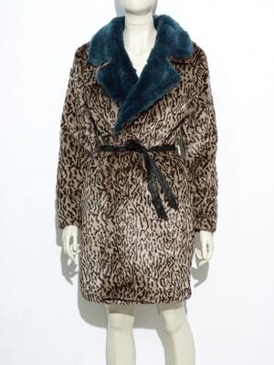Leopard Fur Coat Synthetic