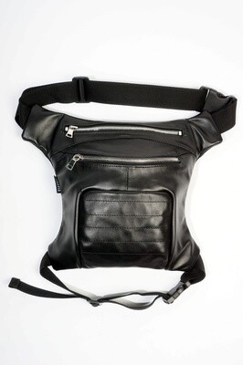 Black Leather Legbag