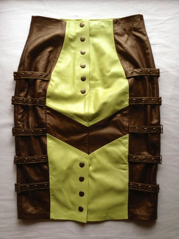Примеры юбок кожаных
