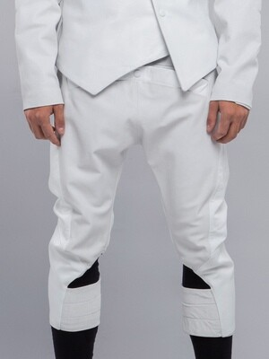 White Genuine Leather Breeches
