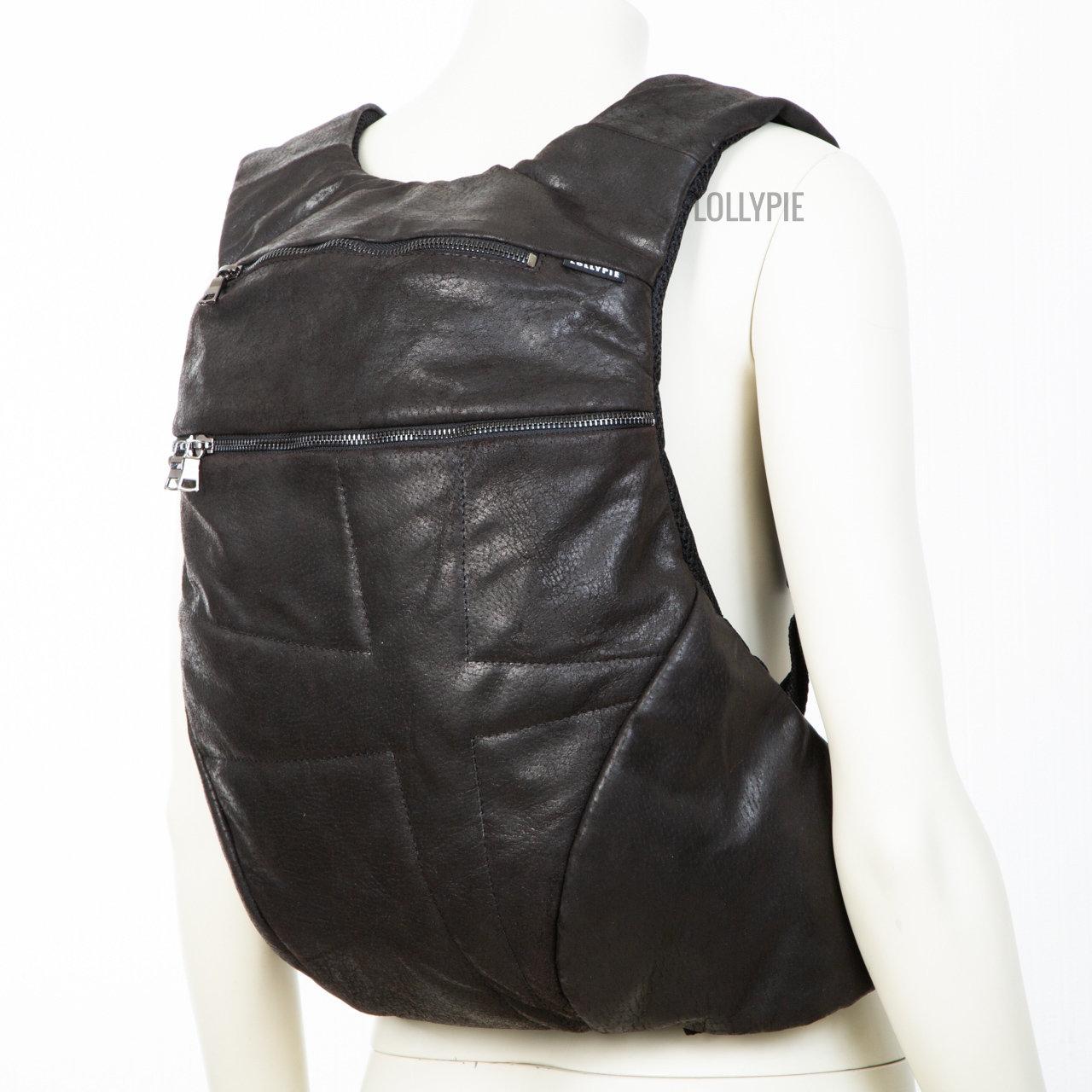 Рюкзак кожаный коричневый