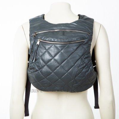 Рюкзак кожаный серый