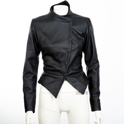 Black Leather Woman Jacket to order