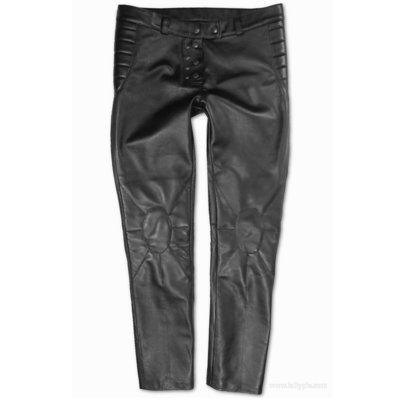 Leather Narrow Trousers