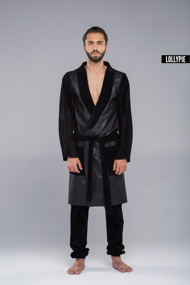 Халат кожаный Leather Coat