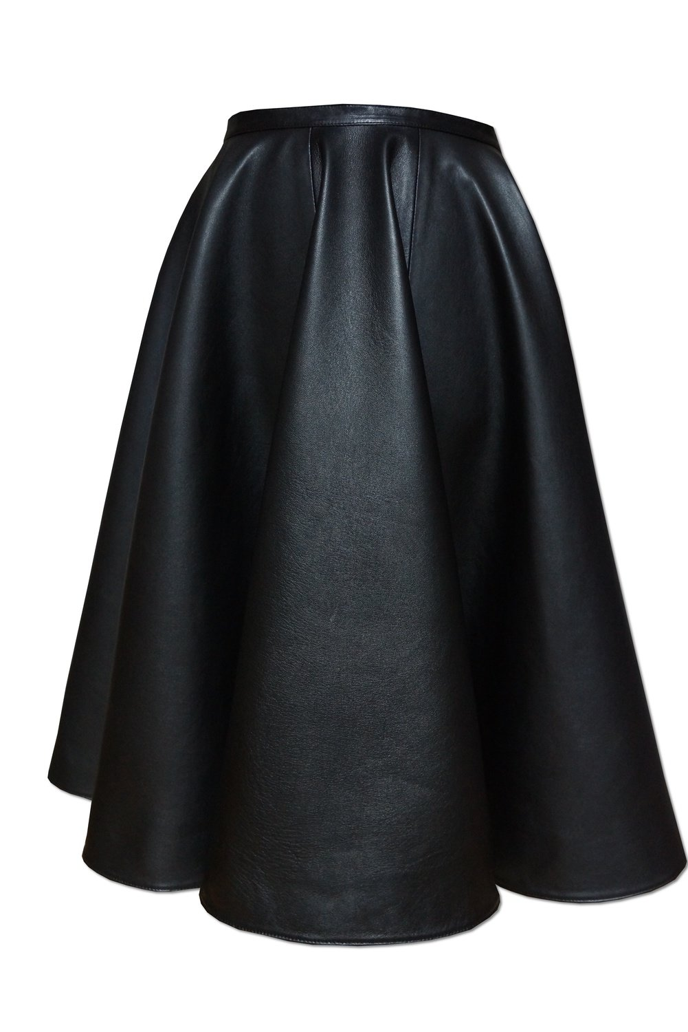 Leather Skirt 6 wedges
