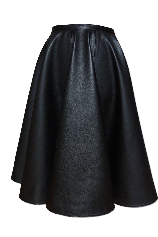 Кожаная юбка полусолнце