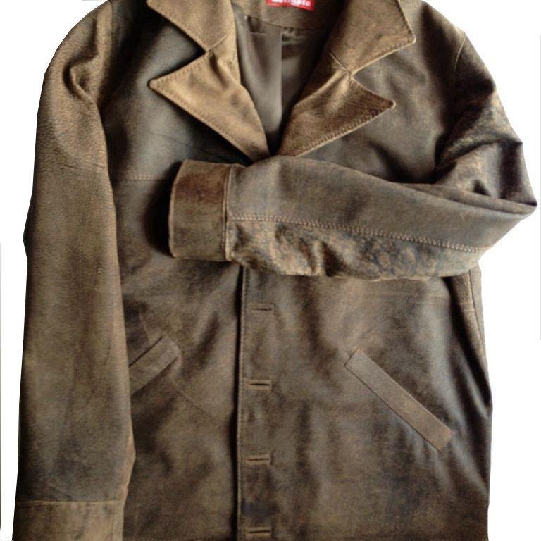 Куртка кожаная классика мужская