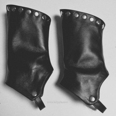 Гамаши кожаные или замшевые