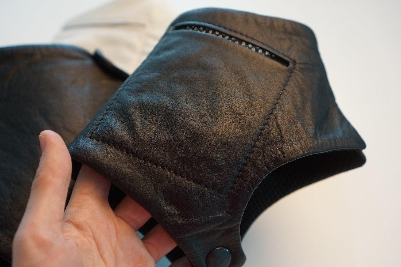 Гамаши кожаные