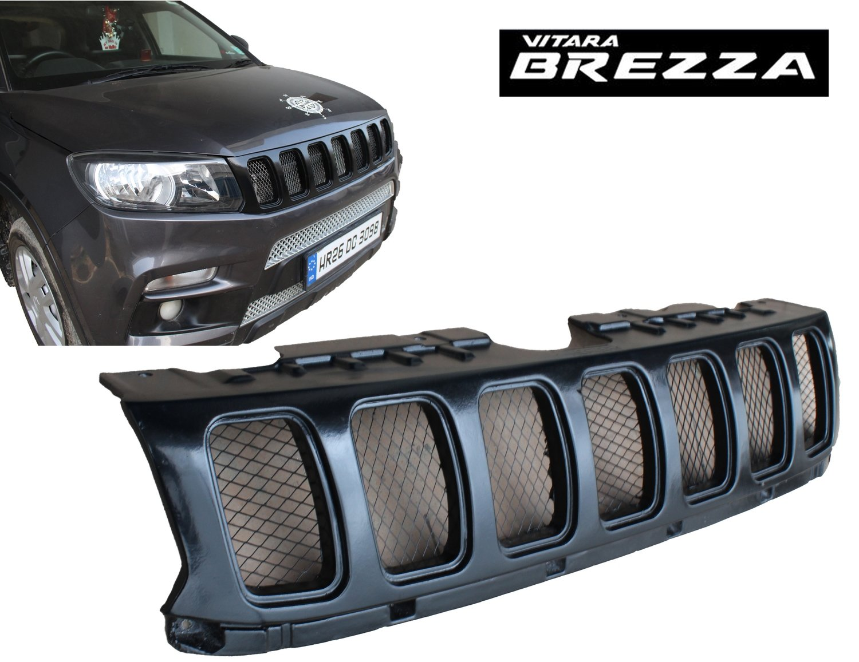 Jeep Style Heavy Duty Front Grill - Matte Black