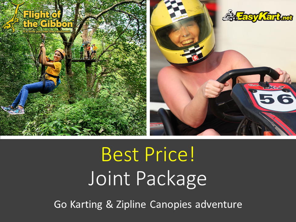 HOT DEAL! Go-Karting (4 races) + Flight of the Gibbon Zipline! (Bangkok) 00024