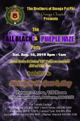 The All Black and Purple Haze Party