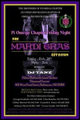 Pi Omega Friday Night Pre-Mardi Gras Party