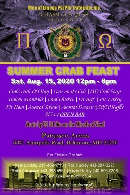 Pi Omega Crab Feast (Table Purchase)