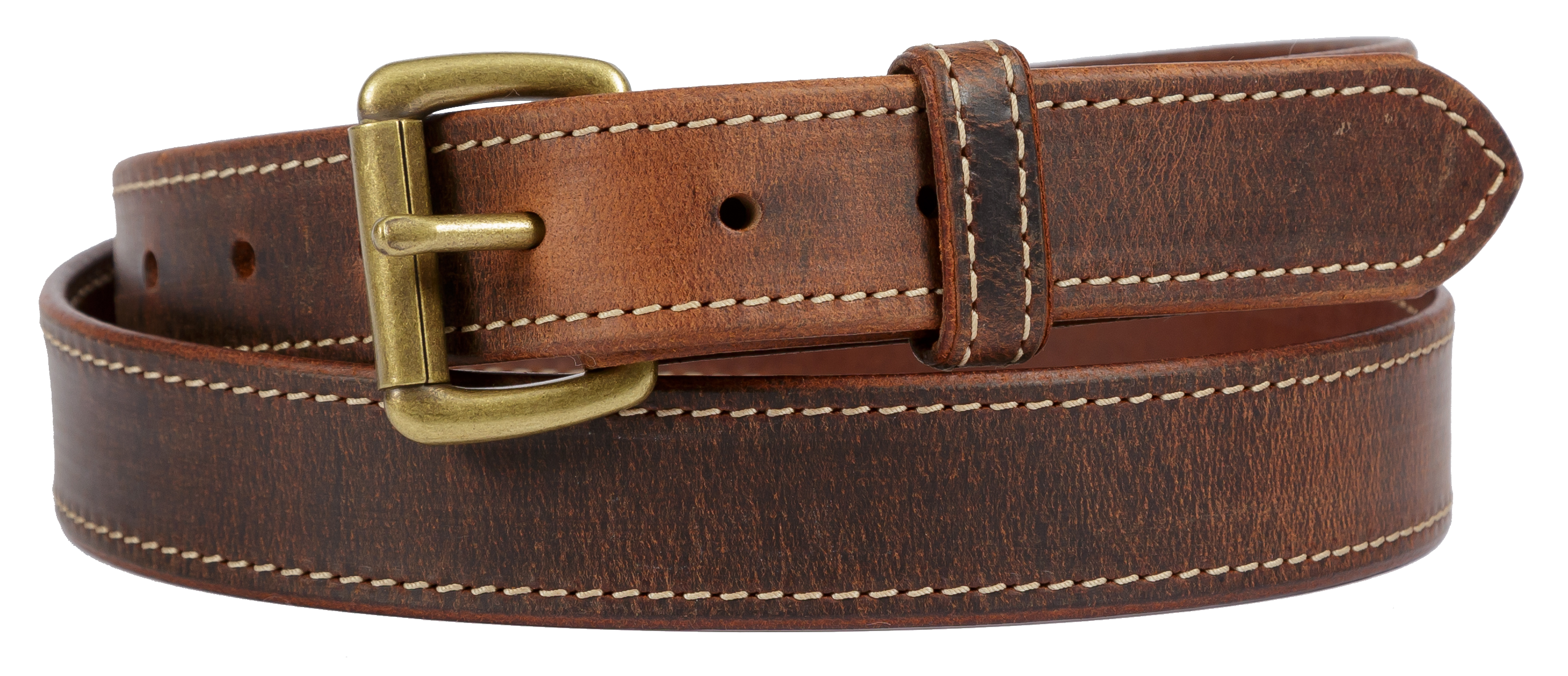 Distressed Brown Stitched