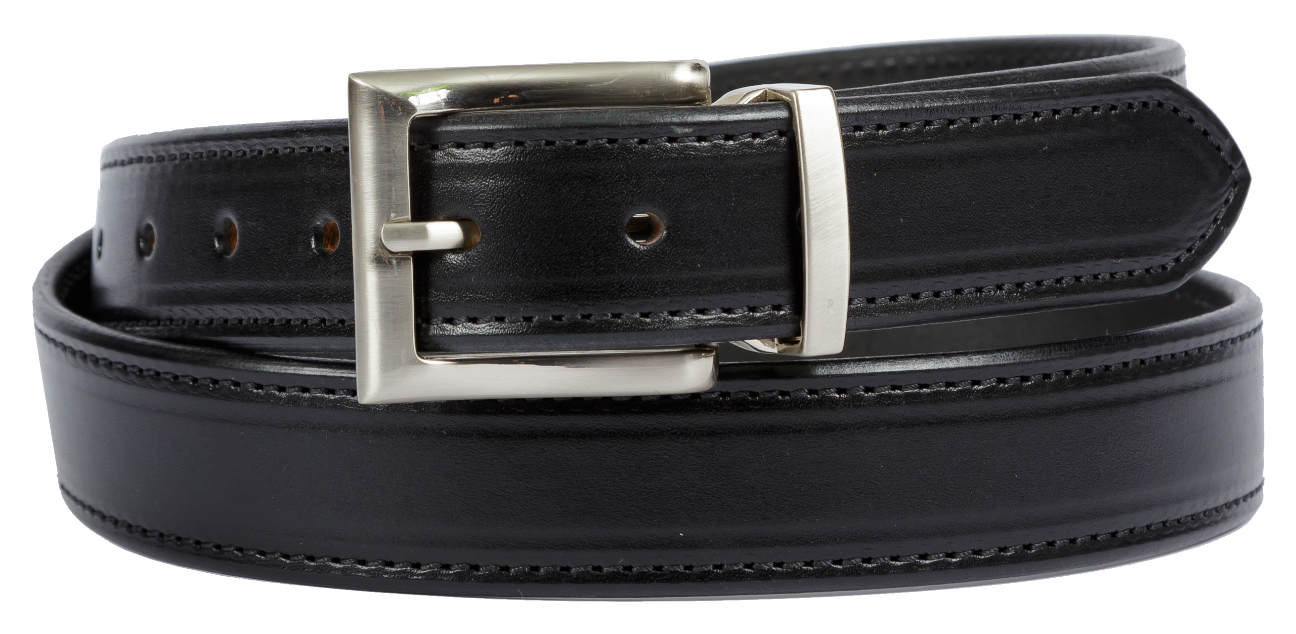 Bridle Leather Belt Stitched Dress Belt 120-01